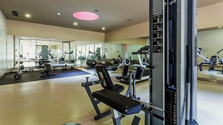 Gym full equiped to keep you in shape.