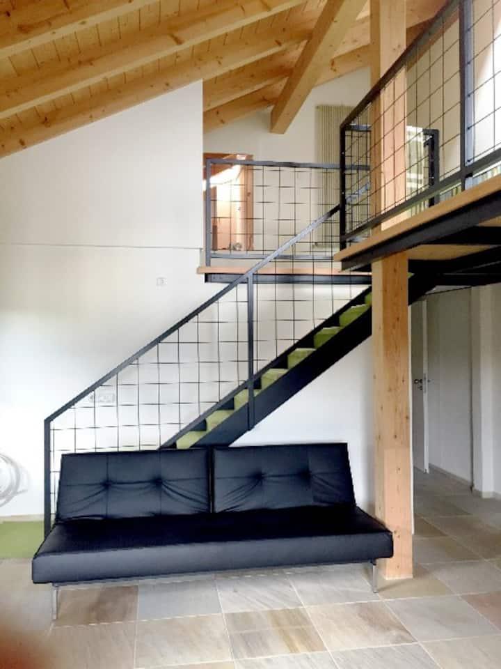 Chalet-Wohnung mit Panoramablick
