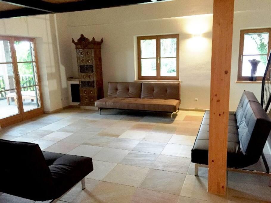 Wohnenraum mit Kamin