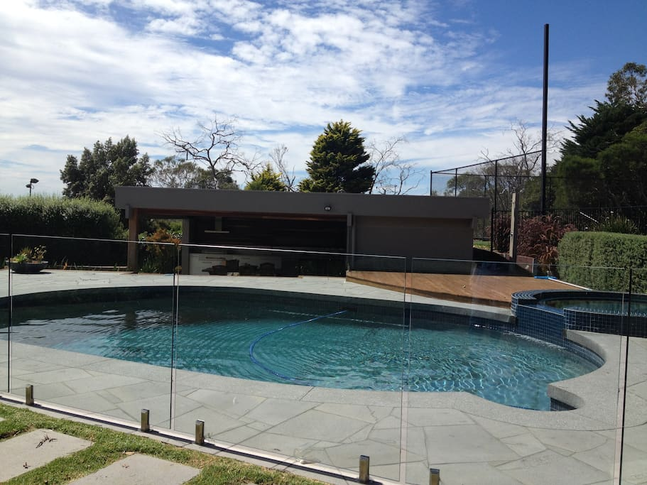 Heated pool, studio and outdoor entertaining.