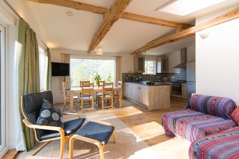 Luxury wooden cabin in the wild