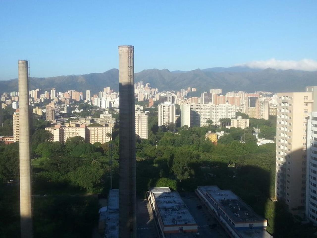 View of the city from the flat.
