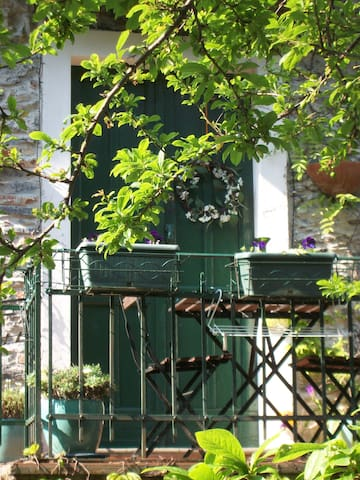 Entrance door and balcony-terrace