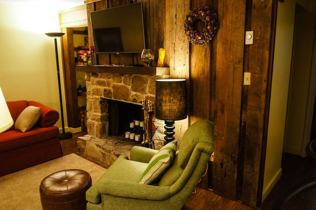 9. The fire place, favorite spot in the winter