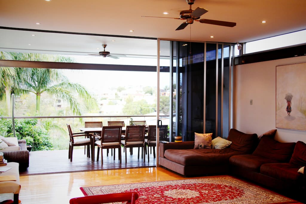 Lounge room with great views over Red Hill.
