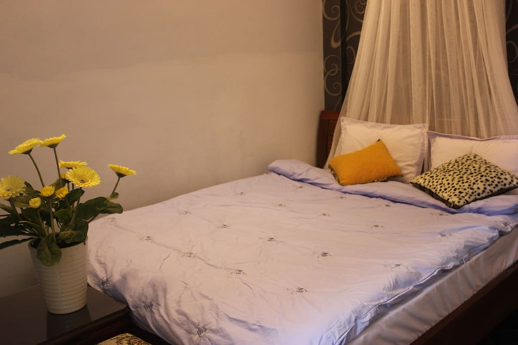 superior double bed room with bancony and bathroom inside