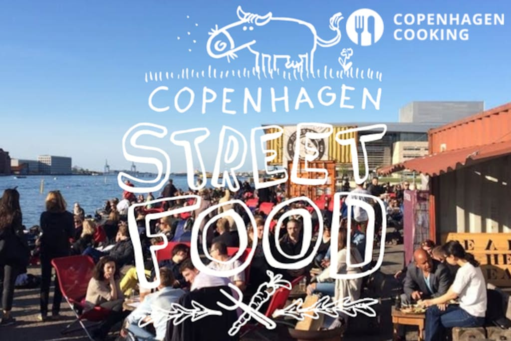 Copenhagen is famous for its street food just next to the harbour front mixed with art and design in easy walking distance. Check out Reffen: https://reffen.dk/en/
