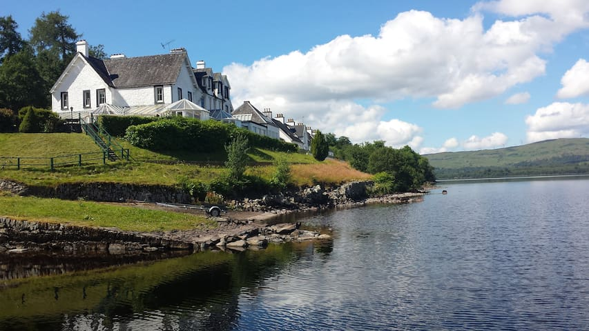Lochside apartments on Loch Awe