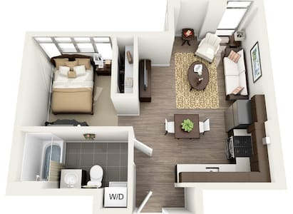 Modern Central One Bdr Apartment - Novi Sad
