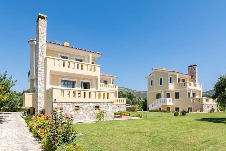 modern, stylish villa with sea view