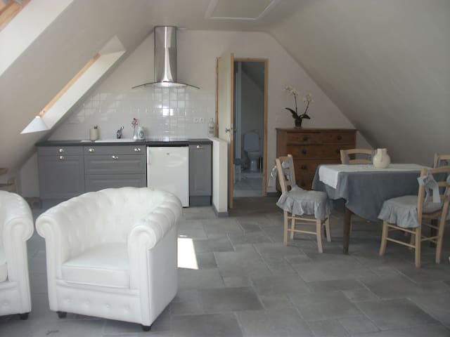 "Appartement avec terrasse ""mer et campagne"" - Troguéry - Flat"