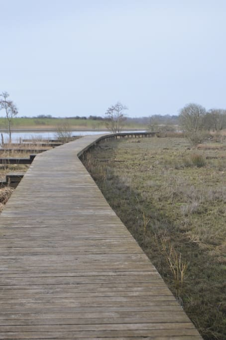 Enjoy a stroll on the riverside walkway adjacent to our accomodation