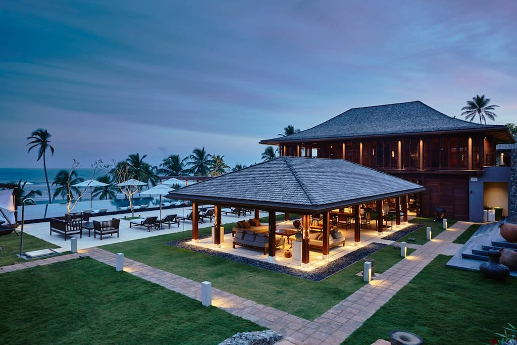 Event pavilion and ocean view from an incredible beachfront location