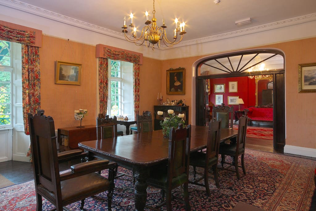 The dining room for breakfast and evening meals