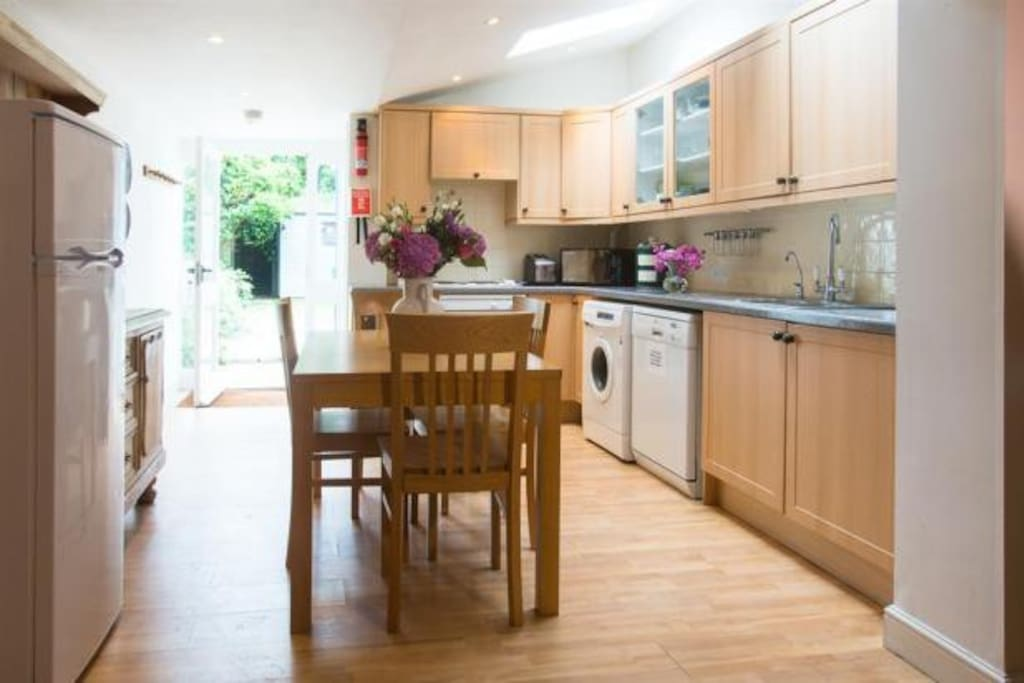 Kitchen with views to the garden