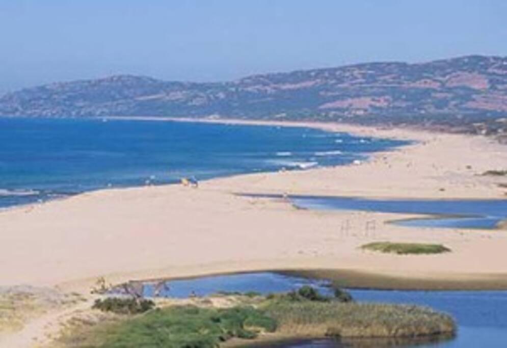 Vista della spiaggia verso Isola rossa