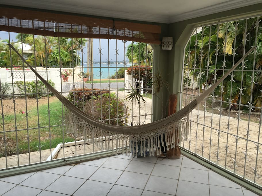 Hammock for lazy days on the front porch...