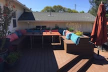 Dining and lounging are on the deck
