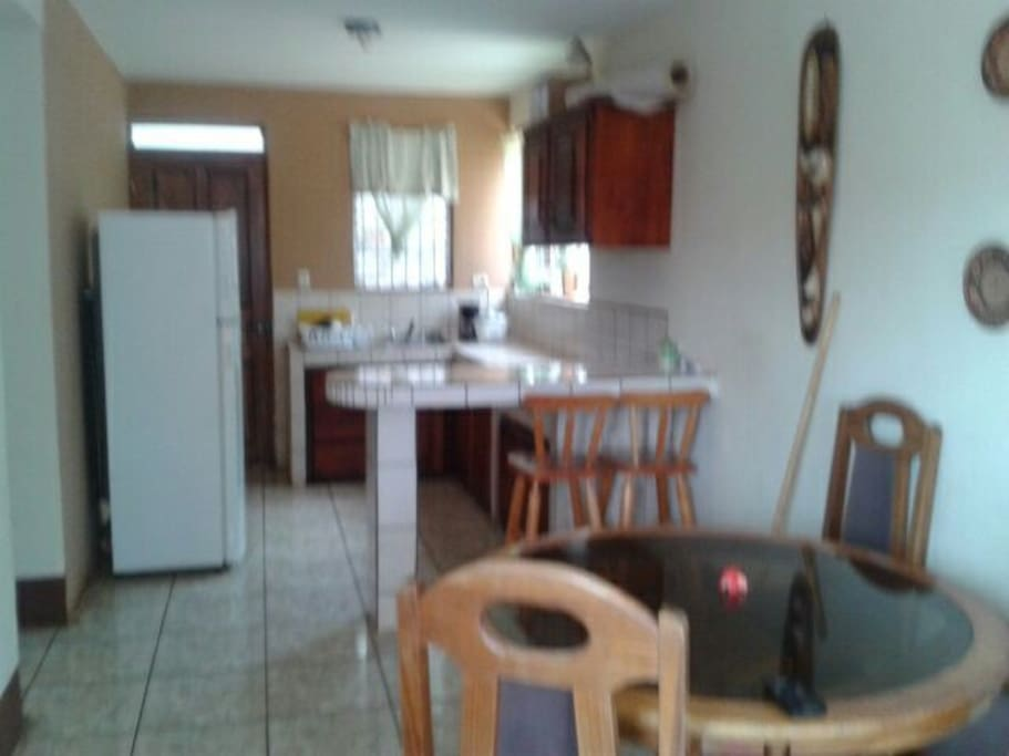 Fully equiped Kitchen, living room, breakfast area and TV