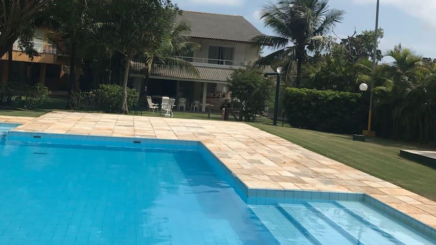 VARANDA vista da piscina