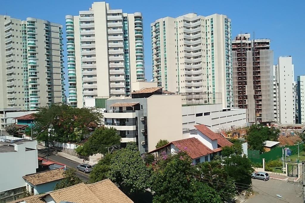 Vista da varanda do apartamento