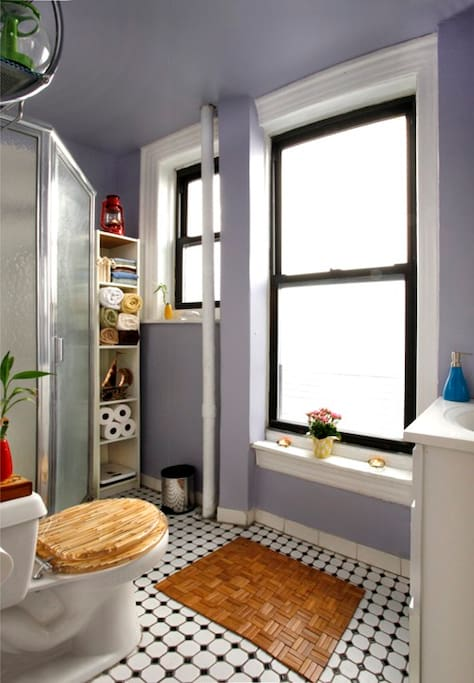 Bathroom: Plenty of towels, soap, paper products. If it's there, you can use it. Lot's of room and light.