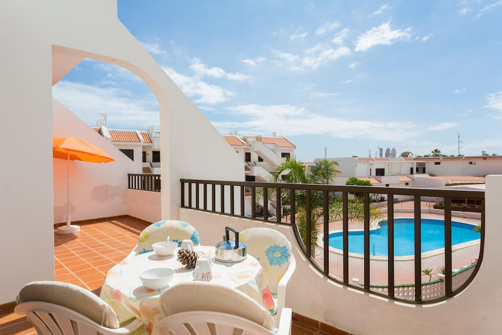 Beautiful terrace, you will spend your days and nights here!