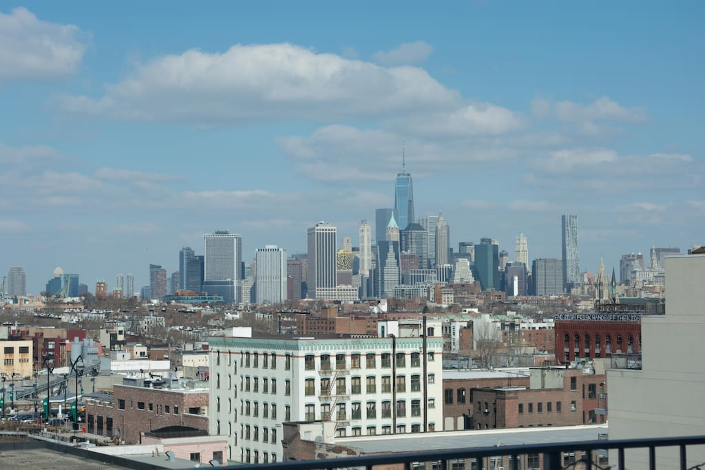 Perfect views of lower Manhattan including the Freedom Tower, Statue of Liberty, etc