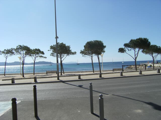 Devant la plage vue  mer grand appart