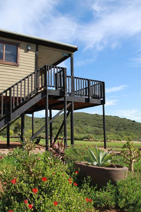 Private two bedroom chalet with bathroom and kitchenette