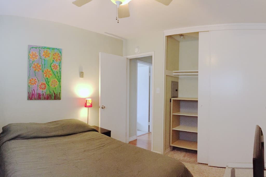 Private, Comfortable Guest Bedroom with 6' Closet