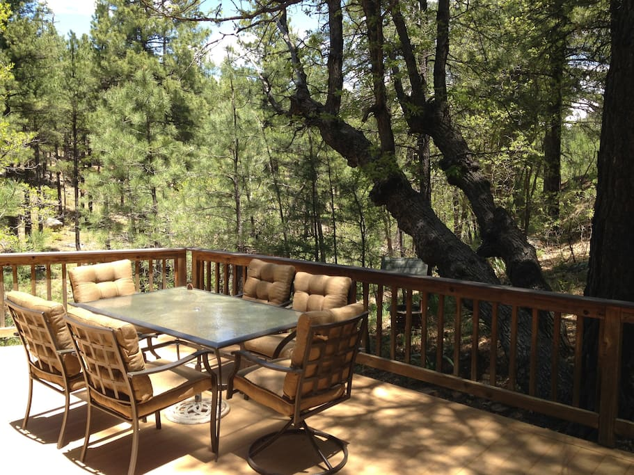 View off the back deck towards the canyon