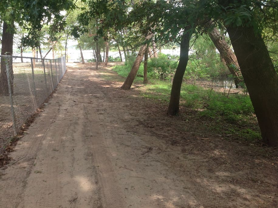Lake Eufaula fun beckons just steps out of your front door.