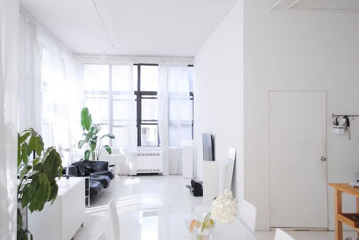 Bright Bedroom in a Brooklyn Loft