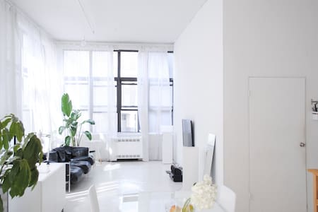 Bright Bedroom in a Brooklyn Loft - Brooklyn