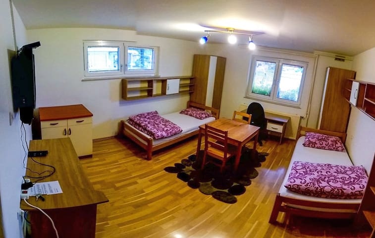 Room, TV, Kitchenette, WiFi,Parking - Ljubljana - Rumah