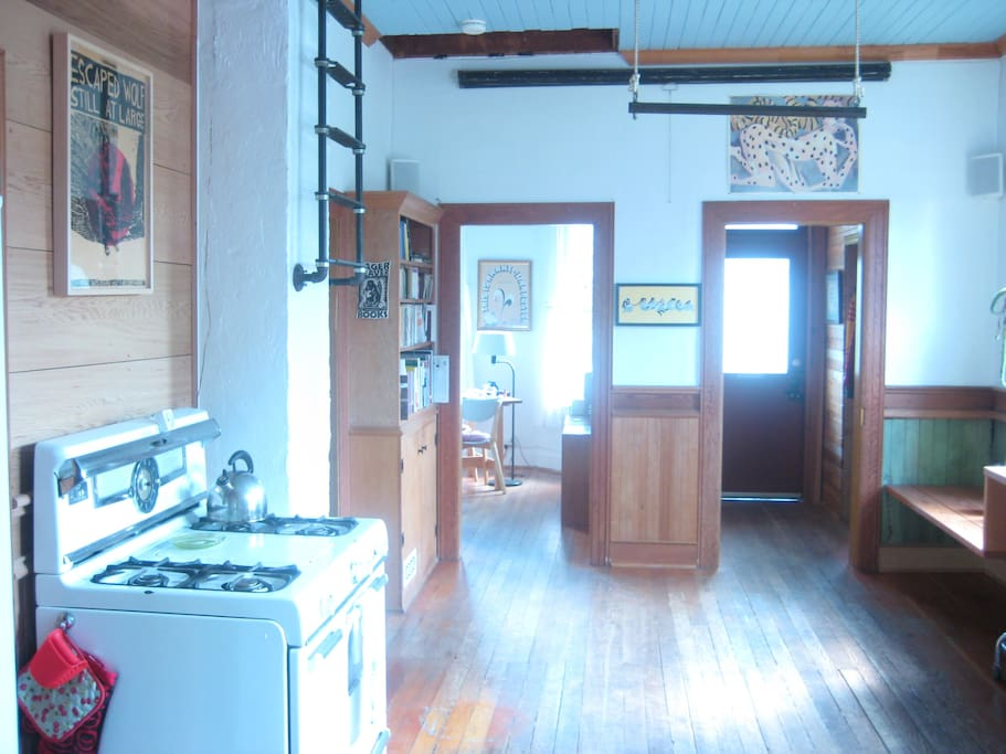 kitchen and entryway
