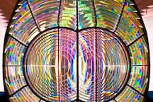 Be sure and take the Museum and Tower Tour that is included in your stay - this is the original Fresnel lens on display in the Lighthouse Museum.