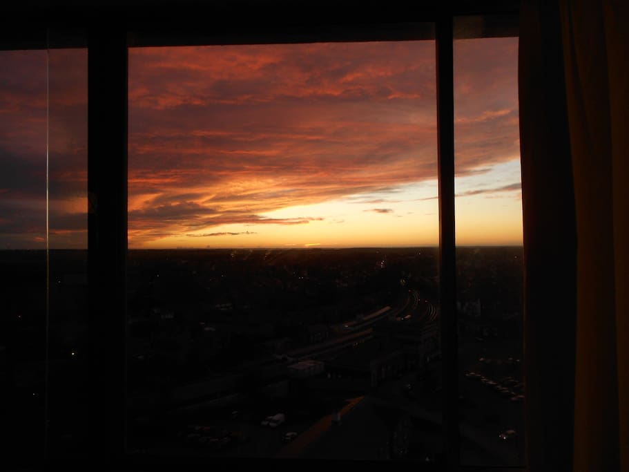 sunset seen from the lounge