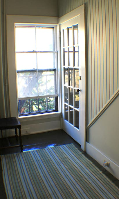 Second floor private entrance leading to 3RD FLOOR Airbnb apartment.