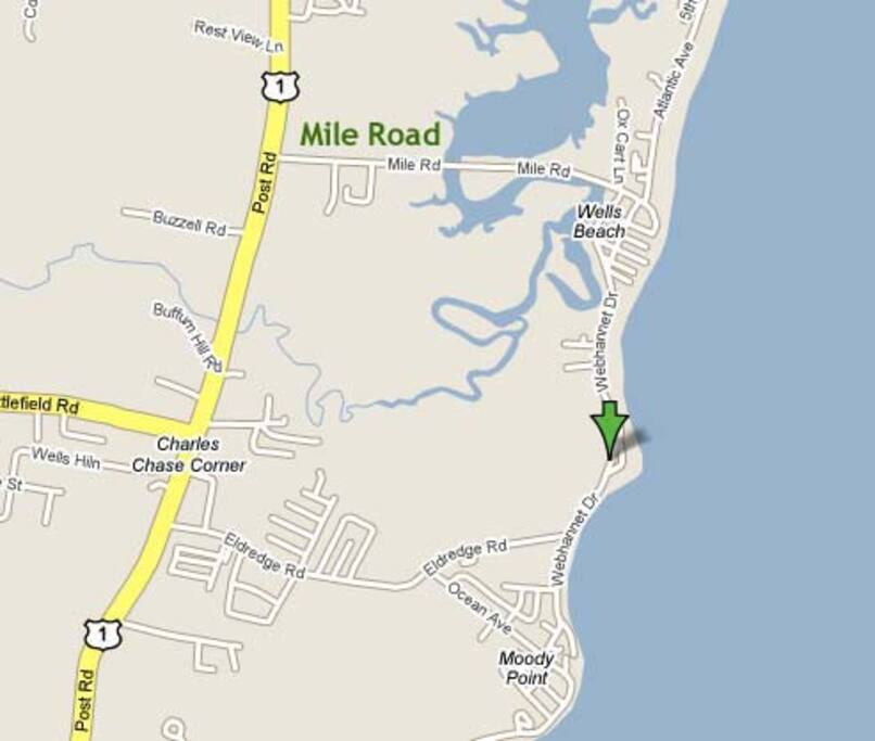 Our location on the map