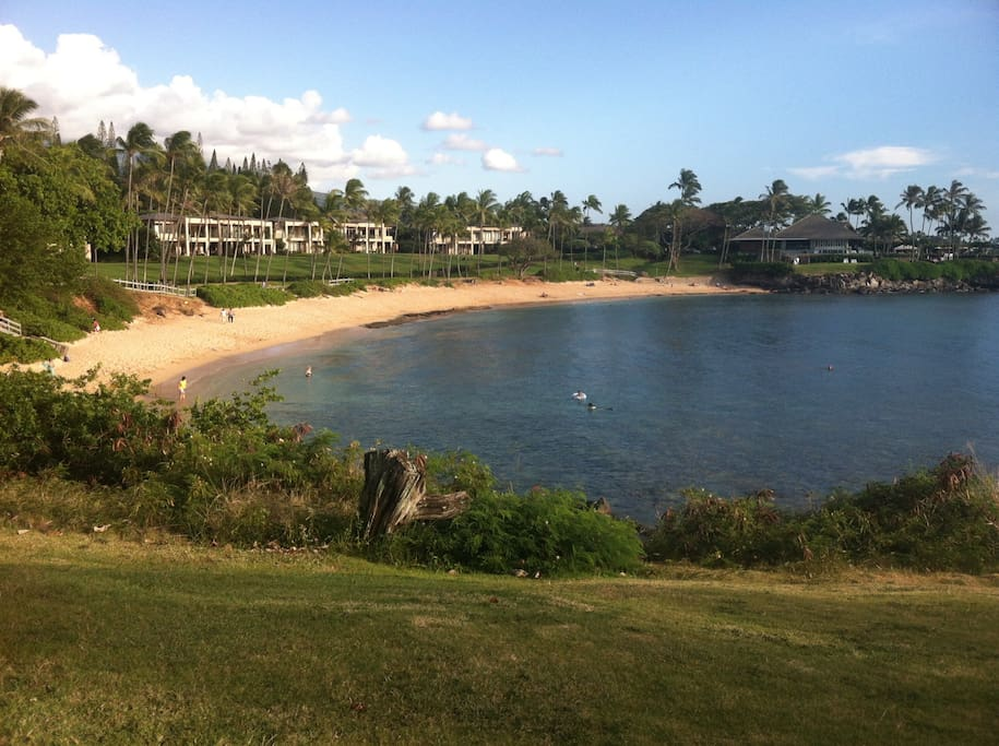 The Kapalua Bay beach is within 5 minutes walk from our Villa: considered one on the top 5 beaches on America. There is also a shuttle service from the Villa to the beach.