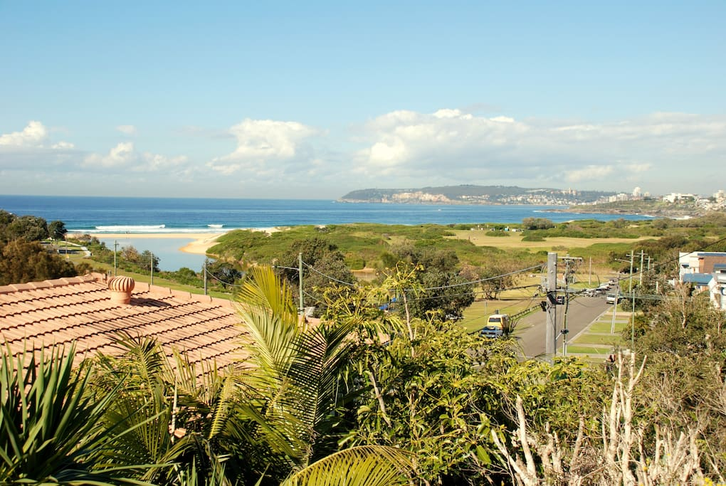 Panoramic views of Curl Curl Beach
