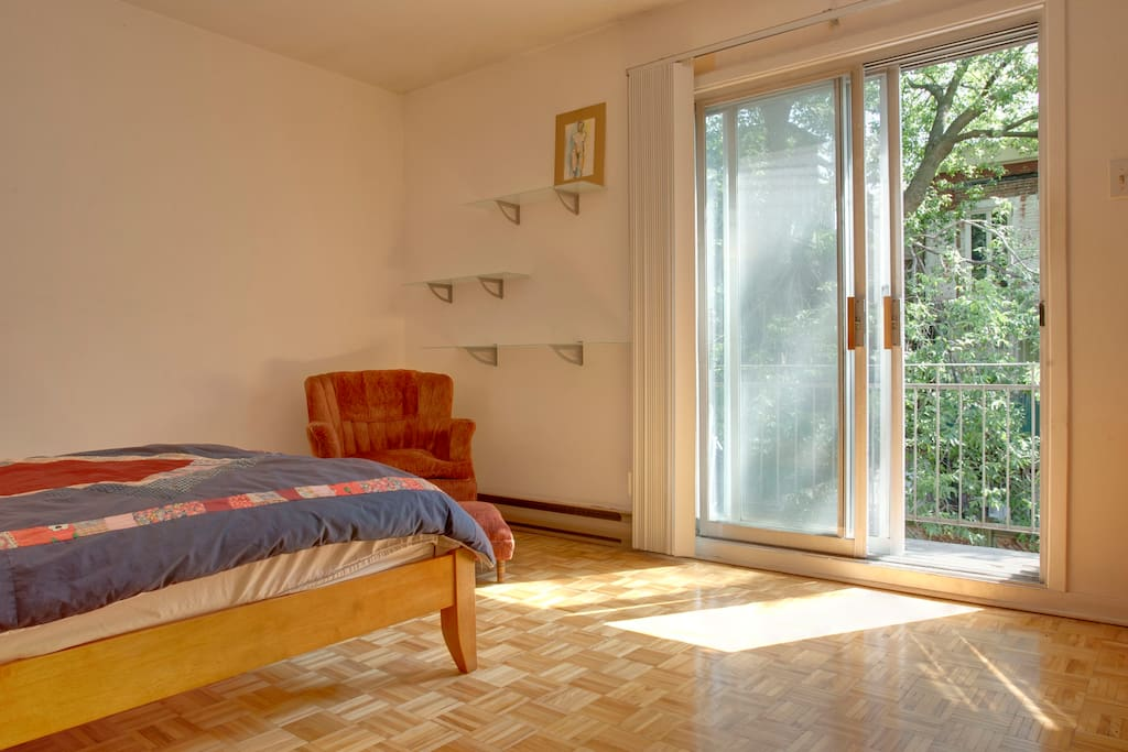 Master bedroom and back balcony
