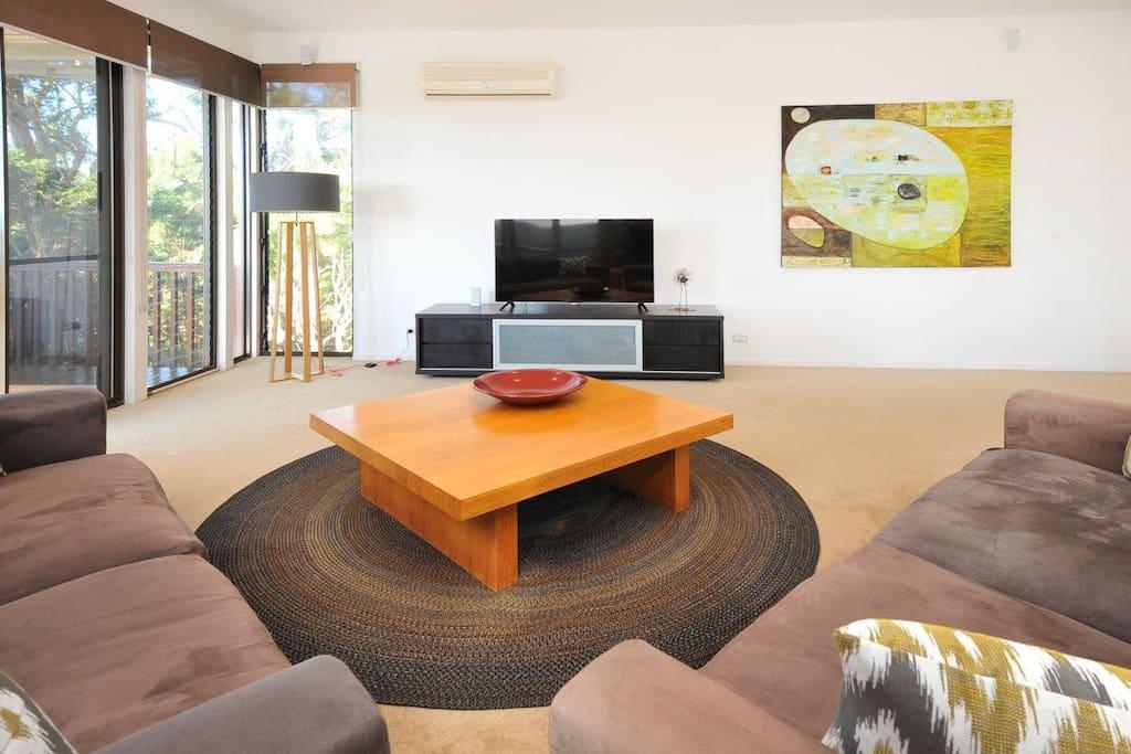 Wide Screen TV, Surround Sound, R/C Air Con