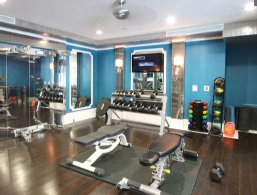 Gym on the first floor