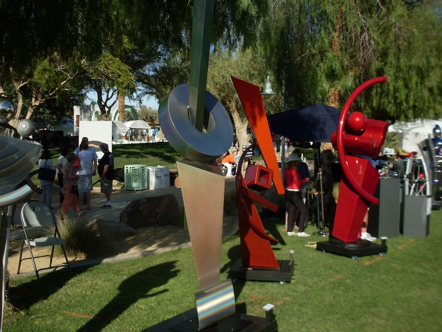 2 blocks away from La Quinta Arts Festival