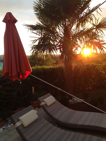 tramonto sulla Piscina