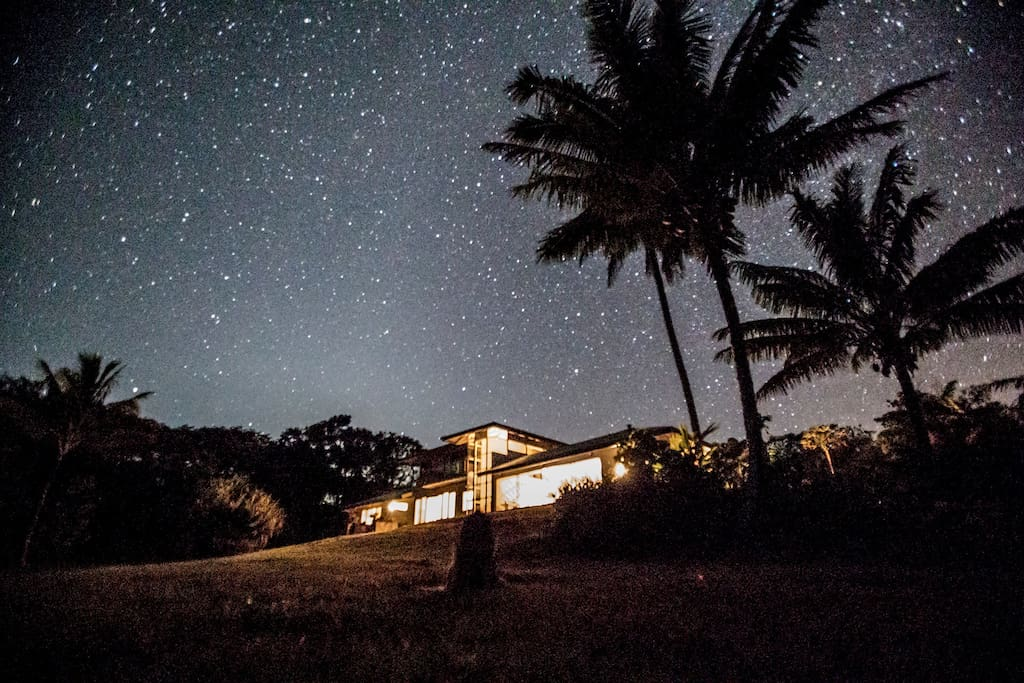 The Milky Way Galaxy canopies  above the home