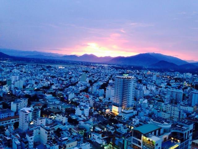 MT60_Great City & sea View of OneBr - 芽莊 - 公寓